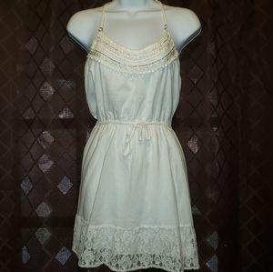 Embellished halter mini dress. Size M.